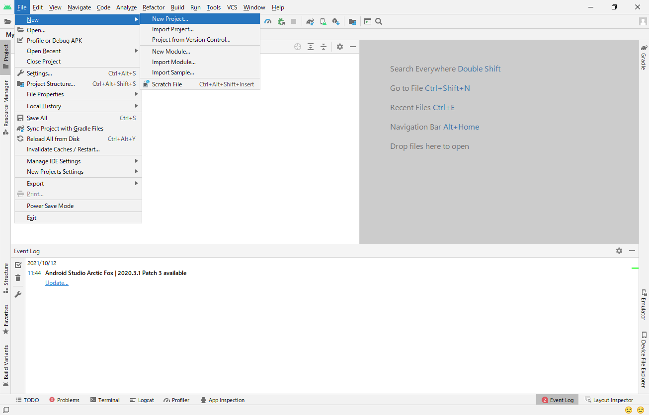 android-studio-new-project