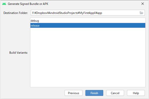 generate signed bundle : release